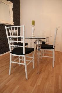 Designer Acryl Esszimmer Set Weiß/Schwarz - Ghost Chair Table - Polycarbonat Möbel - 1 Tisch + 4 Stühle - Casa Padrino Designer Möbel - Vorschau 2
