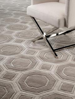 Luxus Teppich casa padrino luxus wollteppich braun / grau - verschiedene größen