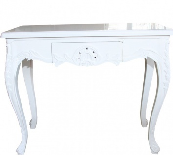 Casa Padrino Barock Konsolentisch Weiss mit Schubladen Damen Schminktisch - Antik Stil - Barock Möbel - Vorschau 2