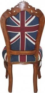 Casa Padrino Barock Esszimmer Stuhl Union Jack / Braun - Möbel Antik Stil - Vorschau 2