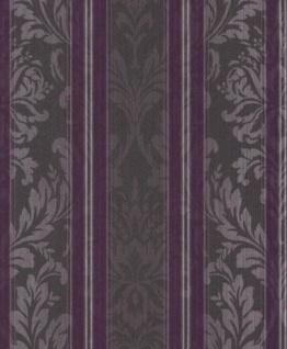 Casa Padrino Barock Textiltapete Lila / Anthrazit / Flieder 10, 05 x 0, 53 m - Wohnzimmer Tapete - Deko Accessoires