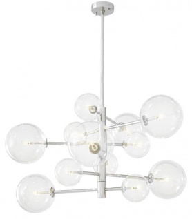 Casa Padrino Luxus Halogen Kronleuchter Silber Ø 90 x H. 53 cm - Luxus Qualität