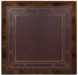 Casa Padrino Luxus Barock Wohnzimmertisch Dunkelbraun / Braun 100 x 100 x H. 49 cm - Couchtisch mit 20 Schubladen - Vorschau 4