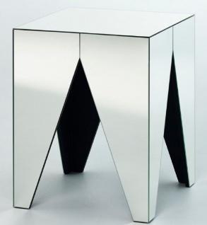 Casa Padrino Luxus Spiegelglas Beistelltisch 45 x 45 x H. 50 cm - Designer Wohnzimmermöbel
