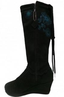 Etniesplus Damen Stiefel Olivia Miranda Plus Black/Cyan