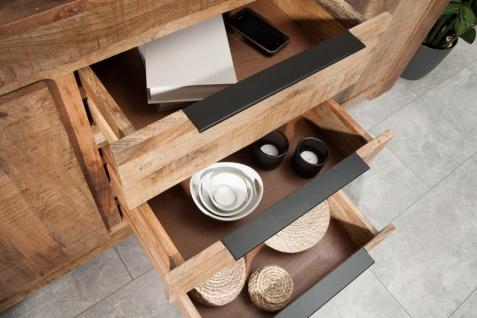 Casa Padrino designer Kommode 174 x 50 x H.76cm - Fernsehschrank - Sideboard - Handgefertigt aus Massivholz - Unikat! - Vorschau 5
