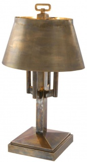 Casa Padrino Luxus Tischleuchte Vintage Messingfarben Ø 52 x H. 85 cm - Hotel & Restaurant Tischlampe - Vorschau 2