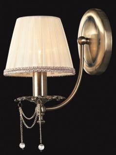 Casa Padrino Barock Kristall Wandleuchte Bronze 15 x H 29 cm Antik Stil - Wandlampe Wand Beleuchtung