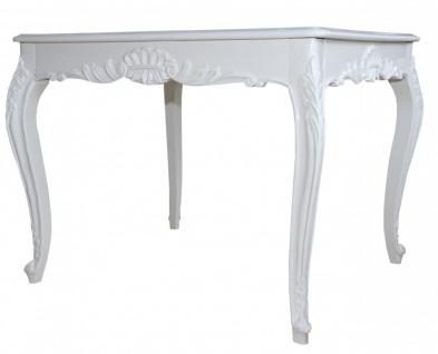 Casa Padrino Barock Esstisch Weiss 100 cm x 90 cm- Esszimmer Tisch