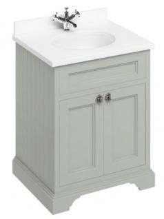 Casa Padrino Luxus Waschschrank / Waschtisch mit Marmorplatte und 2 Türen - Hotel Möbel