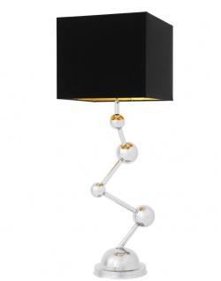 Casa Padrino Luxus Edelstahl Tischleuchte 35 x H. 98 cm - Limited Edition
