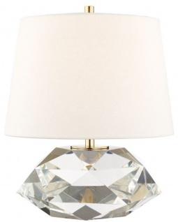 Casa Padrino Luxus Tischleuchte Antik Messing / Weiß Ø 34 x H. 41 cm - Elegante Tischlampe mit rundem Leinen Lampenschirm - Luxus Qualtät
