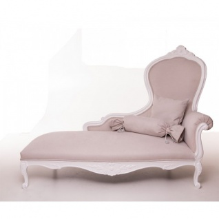 Casa Padrino Luxus Barock Chaiselongue Creme / Altweiß Möbel - Luxury Hotel Collection