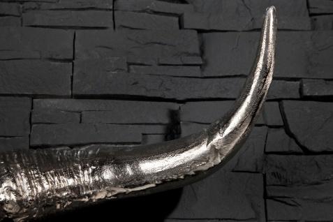 Designer Schädel Matador silber Longhorn Skull H 53 cm, B 63 cm, T 53 cm, edle Skulptur aus Aluminium, Edel & Prunkvoll - Vorschau 5