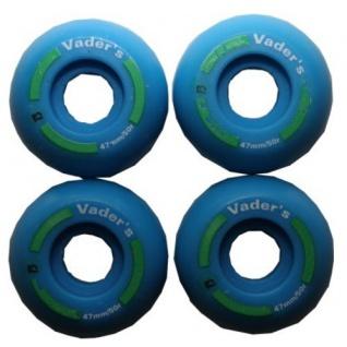 Vader´s Skateboard Profi Wheel Set Blue 47mm / 100A Super Small (1 Set = 4 Rollen)