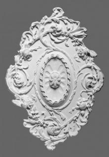Casa Padrino Stuck Rosette 77.5 x 53 cm Deckenstuck Deckenrosette Stuckrosette Wandrosette Barock Jugendstil