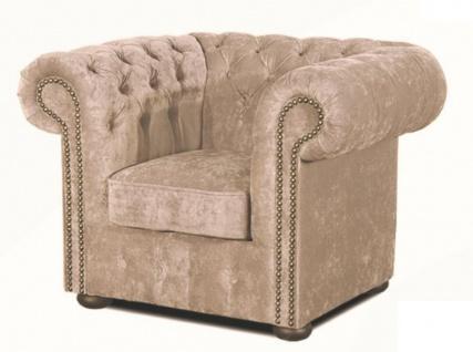 Casa Padrino Luxus Chesterfield Sessel Grau 110 x 90 x H. 78 cm - Luxus Qualität