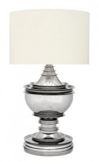 Casa Padrino Luxus Tischleuchte Nickel - Luxus Hotel Leuchte
