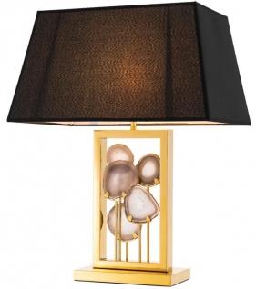 Casa Padrino Designer Tischleuchte Gold - Luxus Kollektion