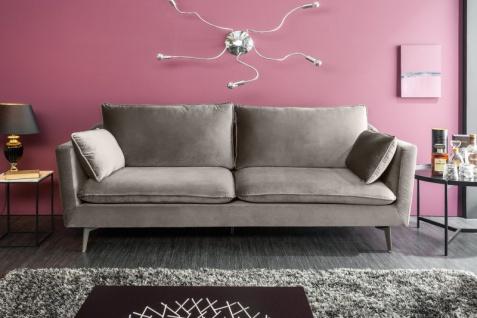 Casa Padrino Designer Wohnzimmer Sofa Silbergrau 210 x 85 x H. 90 cm - Designer Möbel - Vorschau 2