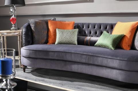 Casa Padrino Luxus Barock Sofa Lila / Braun / Silber - Handgefertigtes Wohnzimmer Sofa - Barock Wohnzimmer Möbel - Vorschau 3