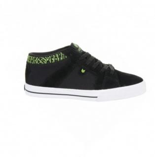 Vox Skateboard Schuhe FootWear Vamp Mid Black/Green/White