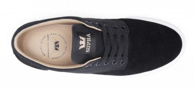 SUPRA Skateboard Schuhe Chino Black / Khaki / White