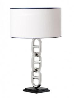 Casa Padrino Luxus Tischleuchte Nickel Durchmesser 10 x 45 x H 76 cm - Luxus Leuchte