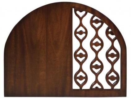 Casa Padrino Luxus Mahagoni Snack Tisch / Beistelltisch Dunkelbraun 42 x 43 x H. 55 cm - Luxus Möbel - Vorschau 5