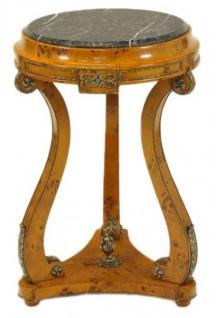 Casa Padrino Barock Beistelltisch Vogelaugen Ahorn H70 X 45cm   Ludwig XVI  Antik Stil Tisch   Möbel