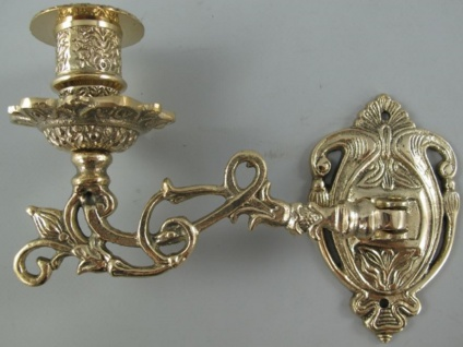 Casa Padrino Barock Wandkerzenhalter Antik Messing 17 cm - Schwenkbare Klavierleuchte - Wanddeko im Barockstil