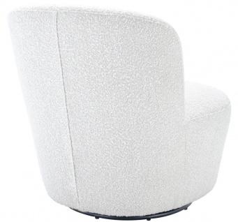 Casa Padrino Luxus Drehsessel Weiß 67 x 71 x H. 75 cm - Club Sessel - Luxus Kollektion - Vorschau 3
