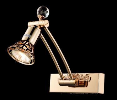Casa Padrino Jugendstil Kristall Wandleuchte Gold 16 x H 22 cm Jugendlicher Stil - Wandlampe Wand Beleuchtung