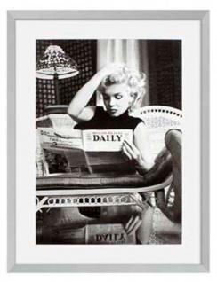 Casa Padrino Bilder 2er Set Marilyn Monroe Silber 69 x H. 89 cm - Luxus Wanddekoration - Vorschau 2