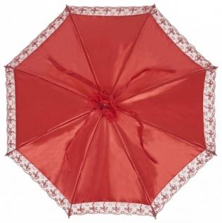 MySchirm Designer Brautschirm Hochzeitsschirm aus rotem Satin - Decoschirm - Vorschau 2