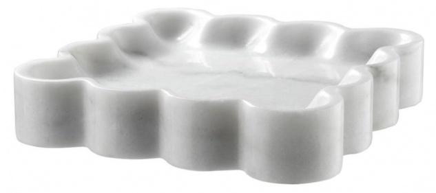 Casa Padrino Designer Marmor Schale Weiß 25 x 25 x H. 5 cm - Luxus Qualität