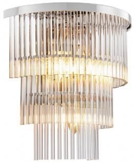 Casa Padrino Luxus Wandleuchte Silber 33 x 17 x H. 32, 5 cm - Wohnzimmer Wandleuchte - Hotel Wandleuchte - Luxus Kollektion