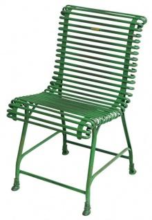 Casa Padrino Gartenstuhl aus Schmiedeeisen - verschiedene Farben - 44 cm x 50 cm - Luxus Gartenmöbel
