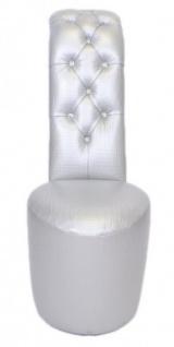 Casa Padrino High Heel Sessel mit Dekosteinen Silber Luxus Design - Designer Sessel - Club Möbel - Schuh Stuhl Sessel - Vorschau 3