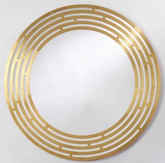 Casa Padrino Luxus Spiegel Messingfarben Ø 100 cm - Runder Wandspiegel mit Metallrahmen - Luxus Kollektion