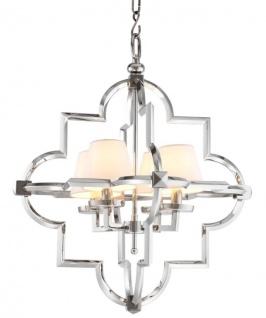 Casa Padrino Designer Hängeleuchte Silber 67 x H. 82 cm - Luxus Hängelampe