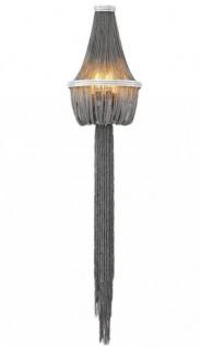 Casa Padrino Luxus Wandleuchte Nickel - Luxus Leuchte