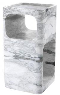 Casa Padrino Designer Marmor Beistelltisch Weiß 28 x 28 x H. 55 cm - Wohnzimmermöbel - Designer Möbel