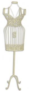 Casa Padrino Jugendstil Schneiderbüste Weiß 36, 2 x 19, 5 x H. 140, 5 cm - Metall Mannequin Damenbüste Schneiderpuppe