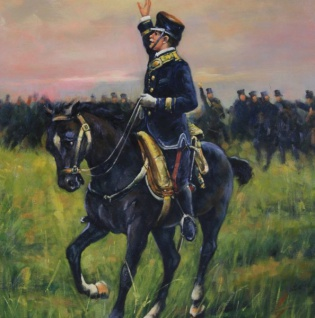 Handgemaltes Barock Öl Gemälde Reiter mit Pferd Mod3 Gold Prunk Rahmen 130 x 100 x 10 cm - Massives Material - Vorschau 2