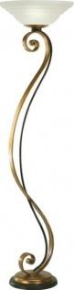 Casa Padrino Luxus Barock Stehleuchte vergoldet mit Glasschale 185 x 50 cm - Stehlampe - Handgefertigt in Italien