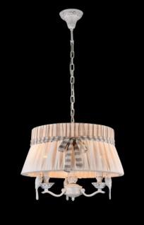 Casa Padrino Barock Kristall Decken Kronleuchter Weiß 45 x H 36 cm Antik Stil - Möbel Lüster Leuchter Hängeleuchte Hängelampe