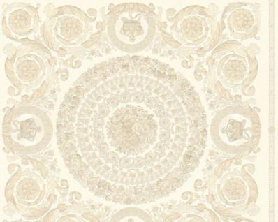 Versace Designer Barock Vliestapete IV 37055-1 - Creme / Beige - Design Tapete - Hochwertige Qualität