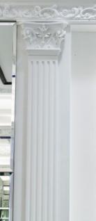 Casa Padrino Barock Zierelement Säulen Kopfteil Weiß 22, 8 x 6, 2 x H. 14, 9 cm - Wanddeko im Barockstil - Vorschau 3