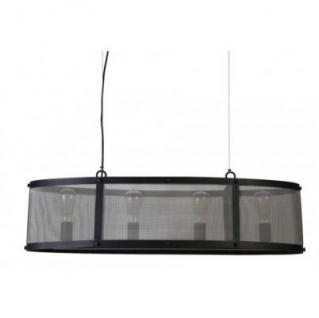 Casa Padrino Hängeleuchte Deckenleuchte Schwarz Industrial Design 100 x 31 x H 25 cm - Industrie Lampe Leuchte Industrieleuchte
